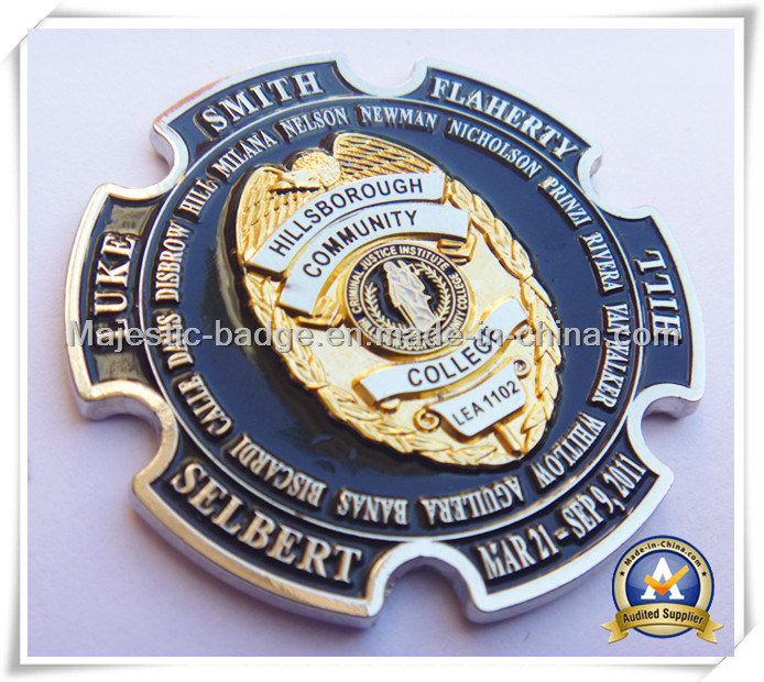 Customized Zinc Die Cast Dual Plating Soft Enamel Challenge Coin