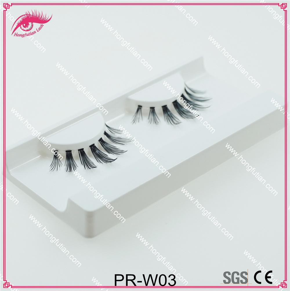 High Quality Natural False Eyelash Human Hair Eyelashes