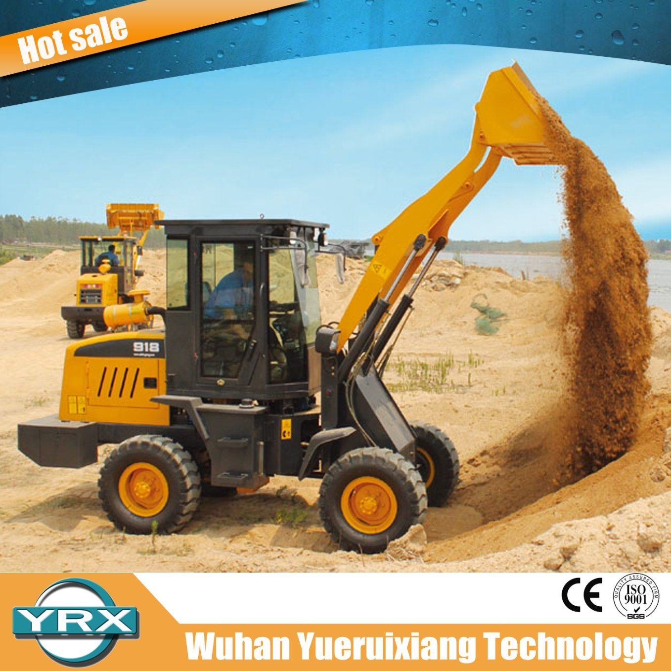 50HP 1.8t Multifunctional Mini Wheel Loader