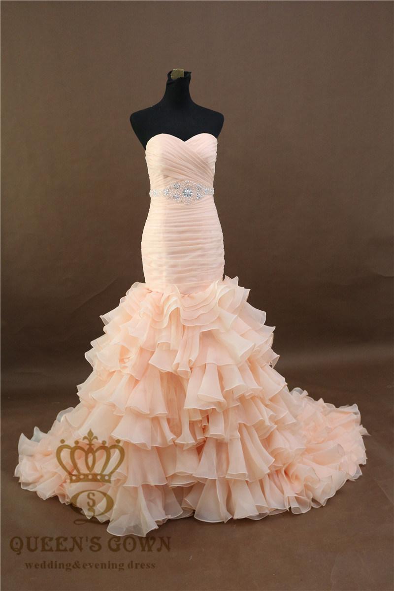 2017 Latest Organza Wedding Evening Party Dress Lace Bridal Dress