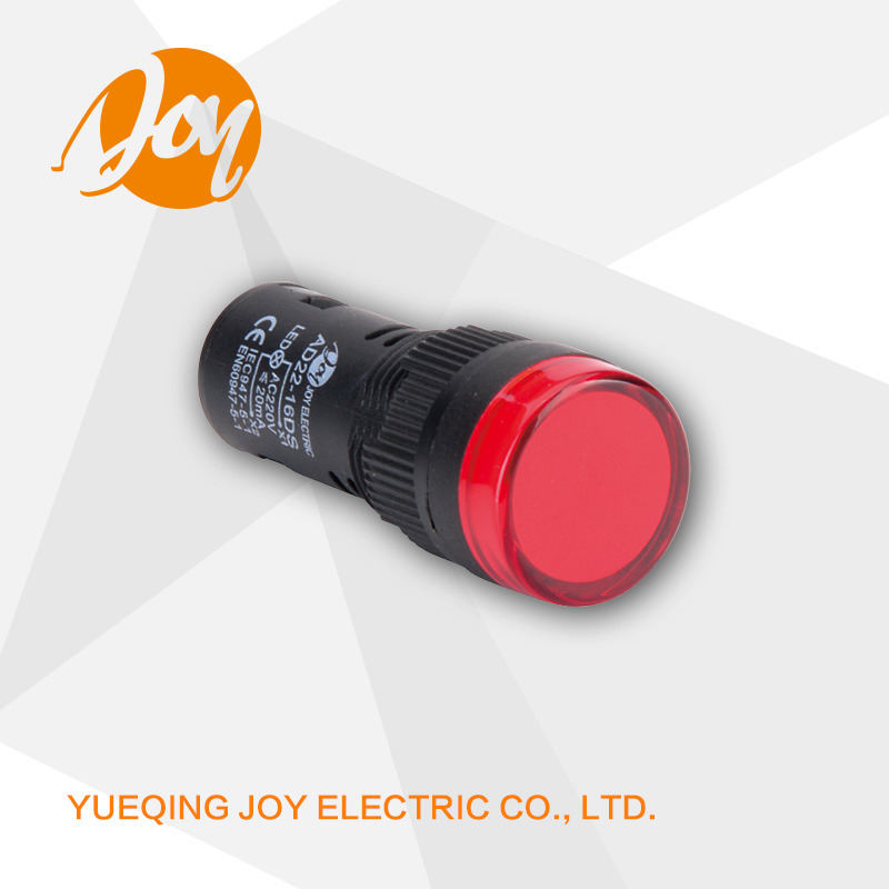 220V 16mm 22mm 30mm Diameter Signal LED Pilot Lamp