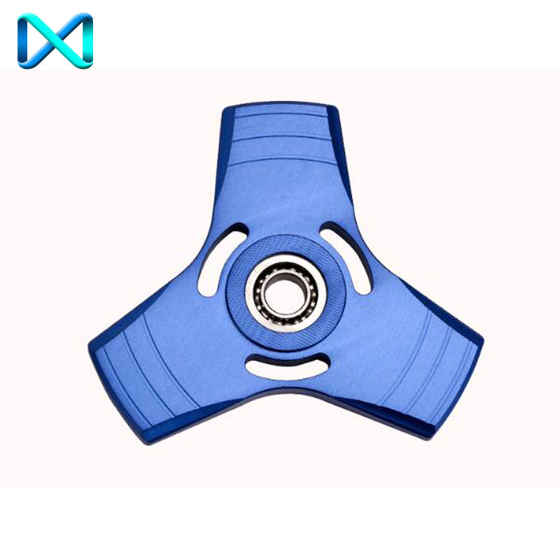 Aluminum Tri Fidget Ceramic Bearing Desk Focus Toy EDC Finger Hand Spinner