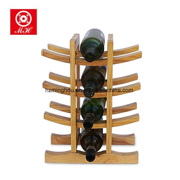 12 Bottle Wooden Wine Bottle Display Rack