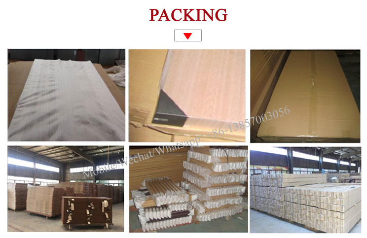 PVC Veneer MDF Wooden Glass Door