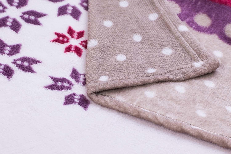 Printed Coral/Flannel Fleece Blanket /Polyester Baby Blanket - Christmas Deer