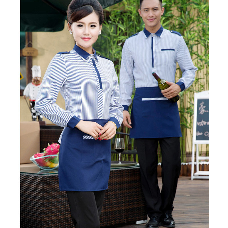 Restaurant Waiter Waitress Apron Uniforms of Polyester