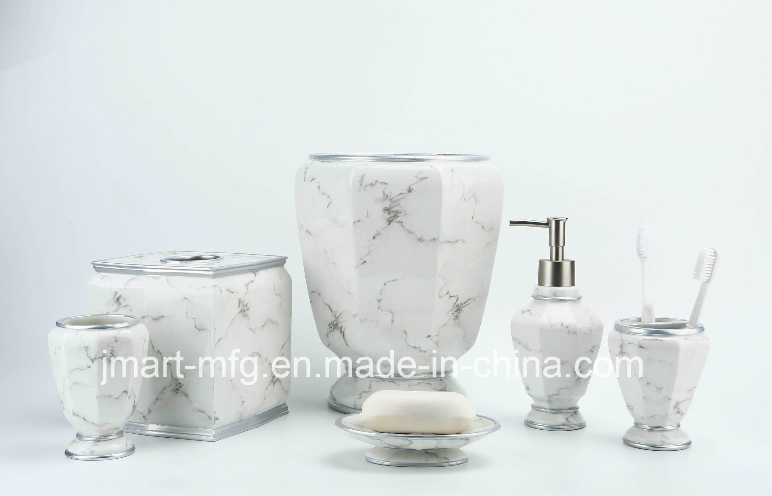 Marble Finish Polyresin Bathroom Accessory