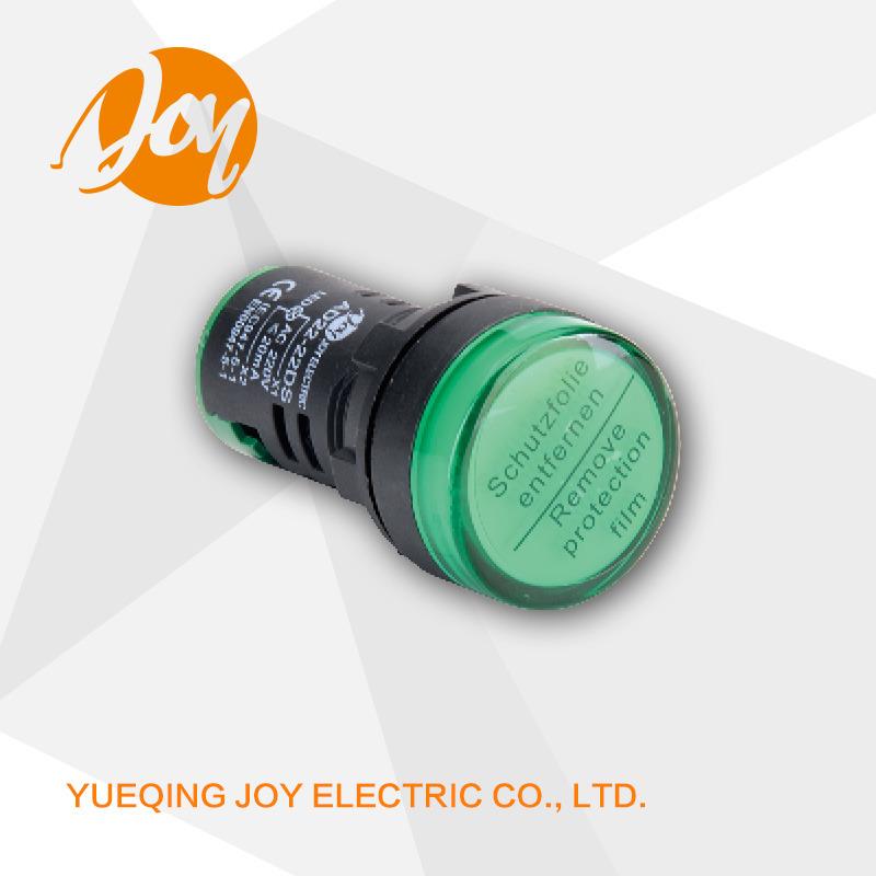 220V 16mm 22mm 30mm Diameter Signal LED Pilot Lamp