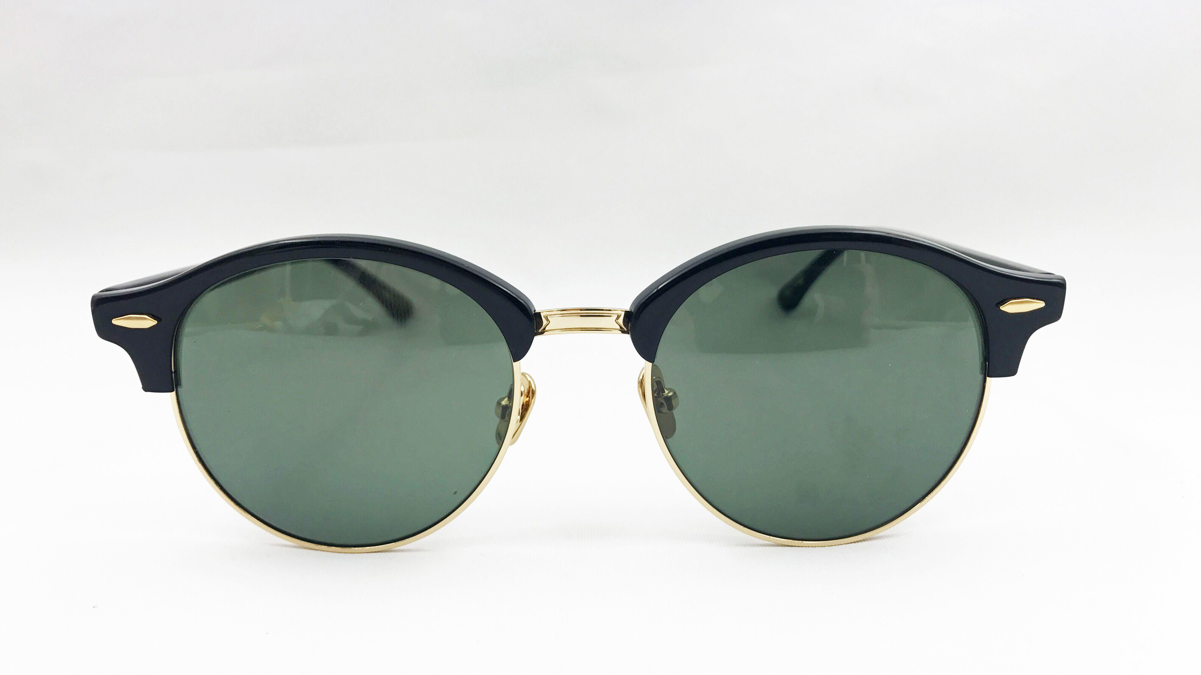 Acetate Sunglasses with Glass Lens for Male and Female.