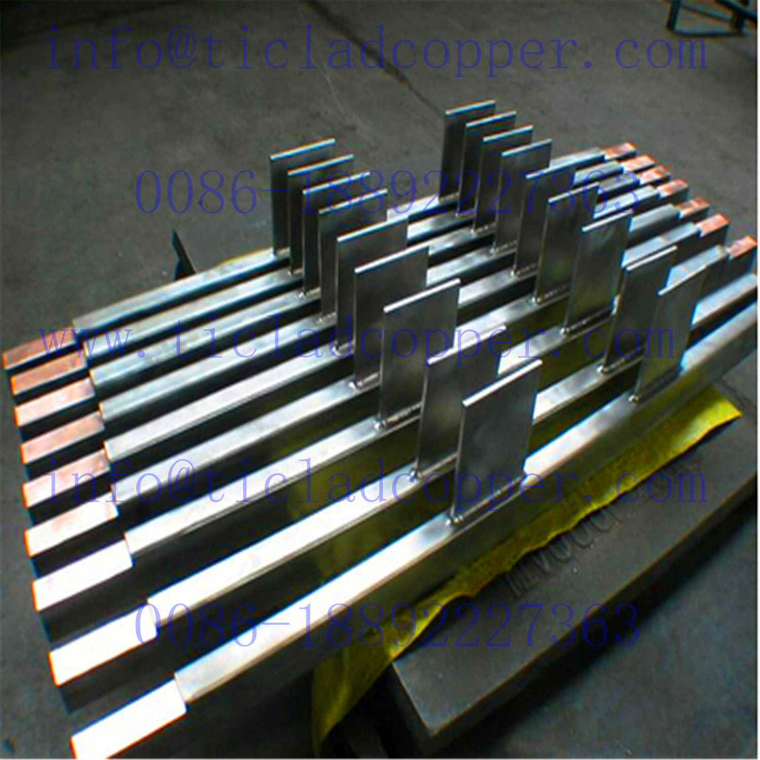 Precut Steel Clad Copper Hanger Bar Electrode for Surface Treatment