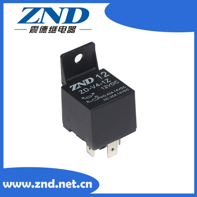 5 Pins Black Cover Automotive Relay 40A 12V 1z Auto Parts