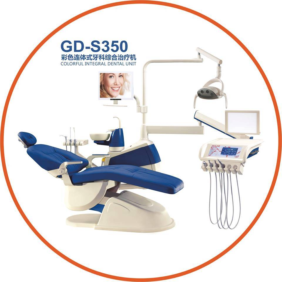 Gladent High Quality Colorful Dental Unit with LED Sensor Lamp