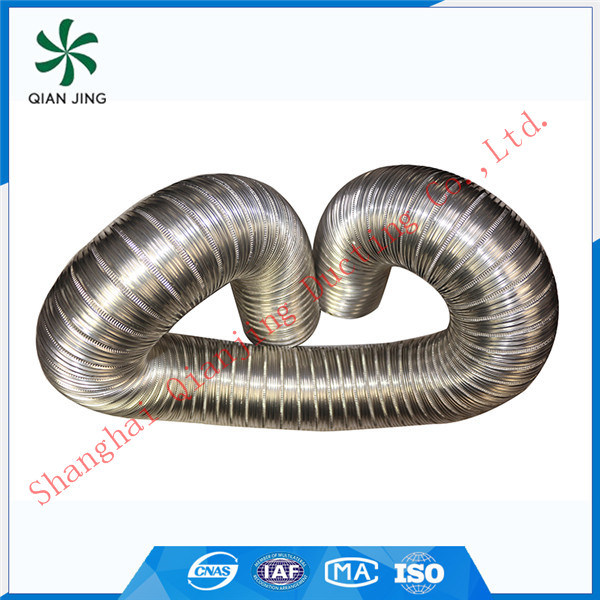 Semi-Rigid 304 Stainless Steel Flexible Duct for Dryer Ventilation
