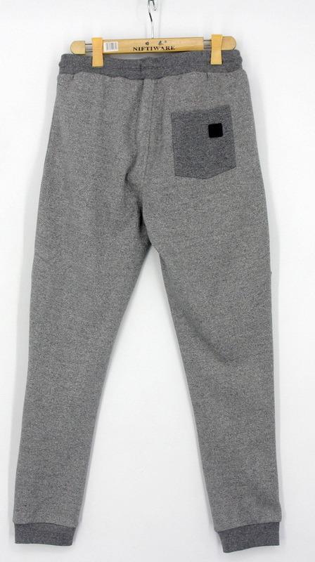 2017 Mens Two Tone Marl Fleece Sweat Jogger Pants