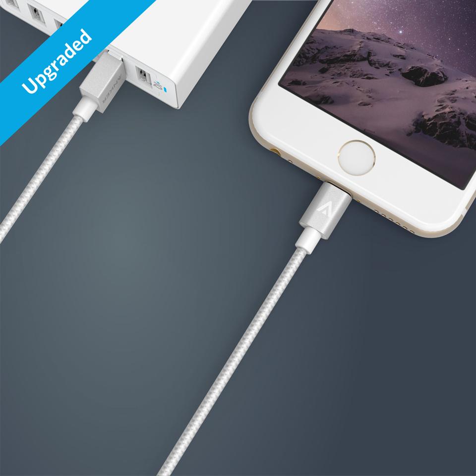 Anker 3FT Nylon Braided Lightning Cable for Apple Mfi Certified]