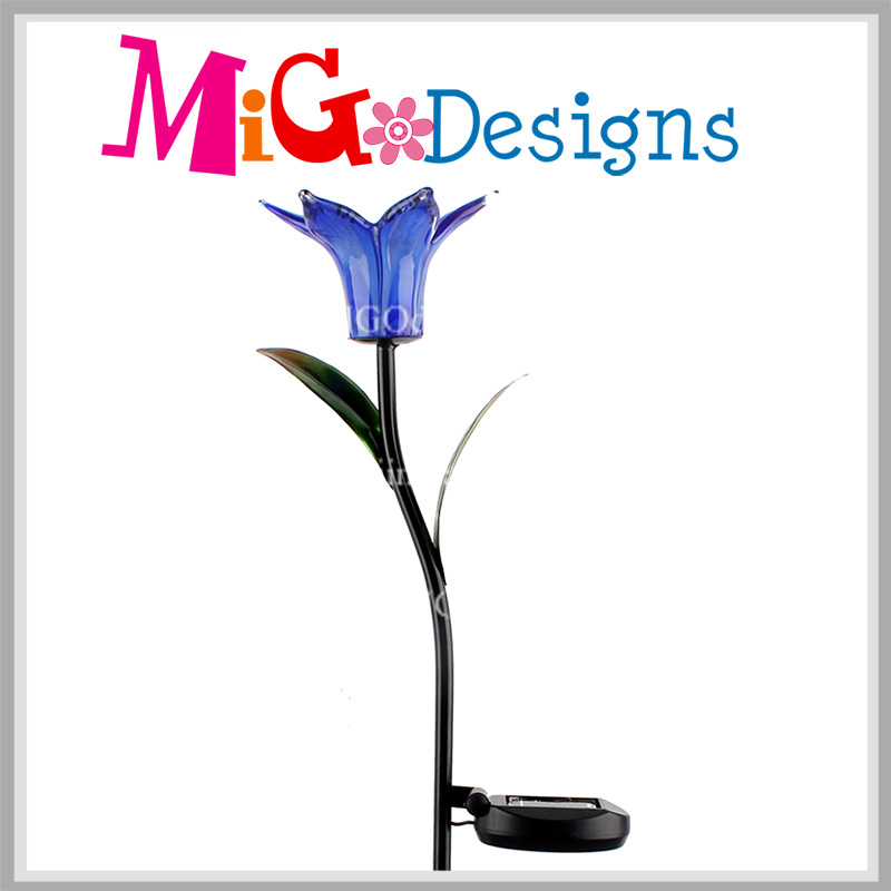 Cheap Metal Crafts with Solar Panel LED Solar Garden Light Stake