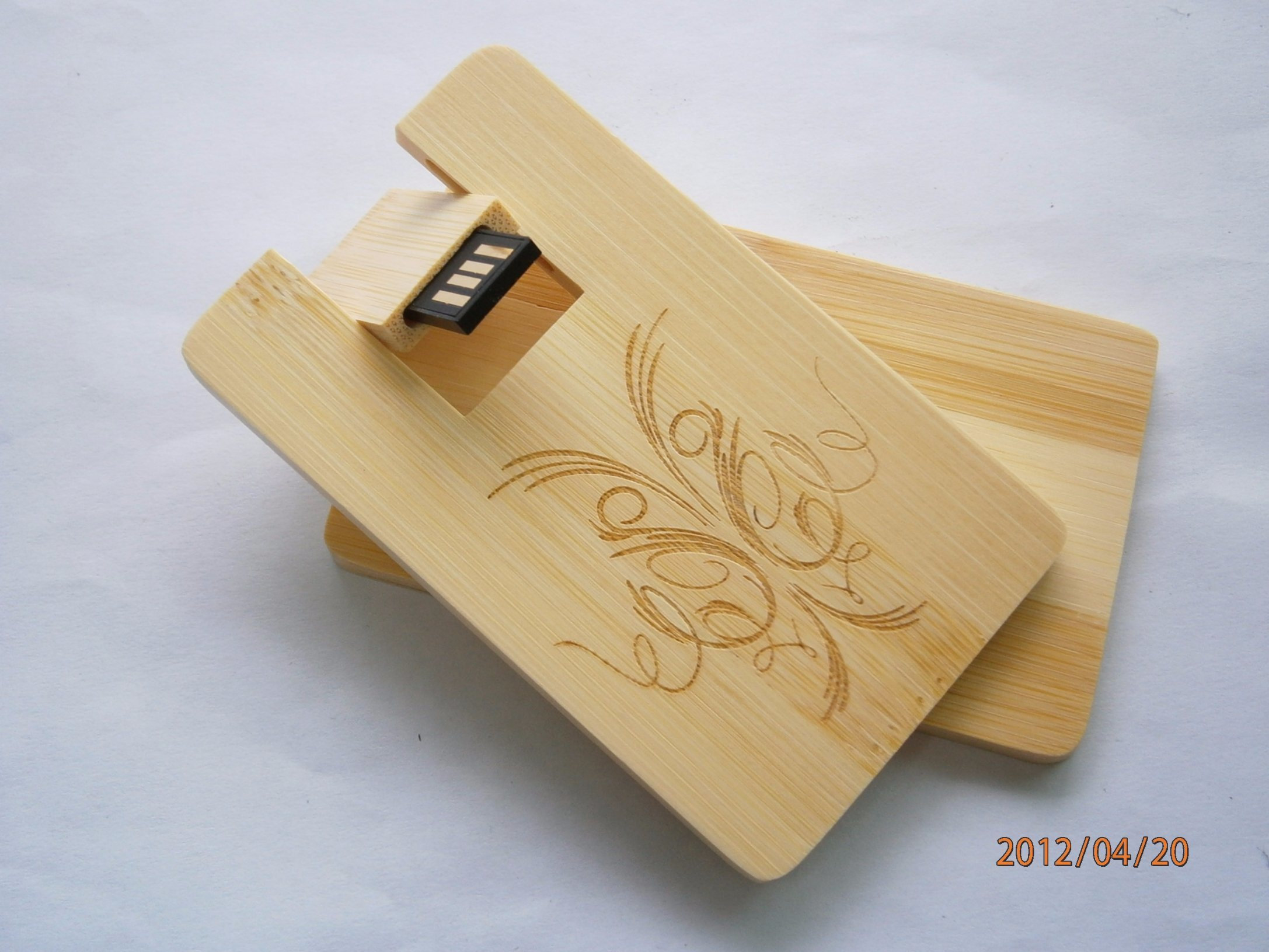 8GB Wooden Card USB 2.0 Flash Stick Pen Drive