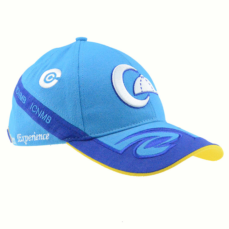 Running Hat Blue 6 Panels Cotton Baseball Cap Racing Caps