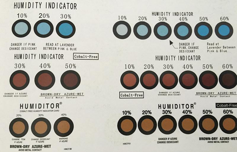 Hic Humidity Indicator Sensor Card Factory Price