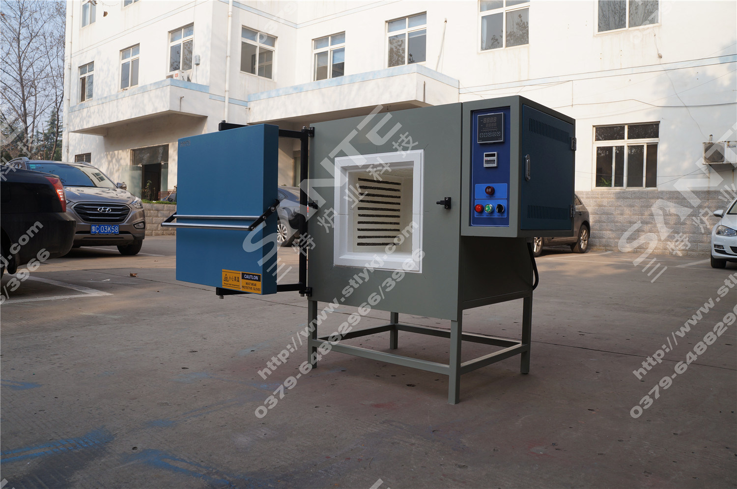 Laboratory Furnace Box Resistance Electrical Furnace 1200deg. C