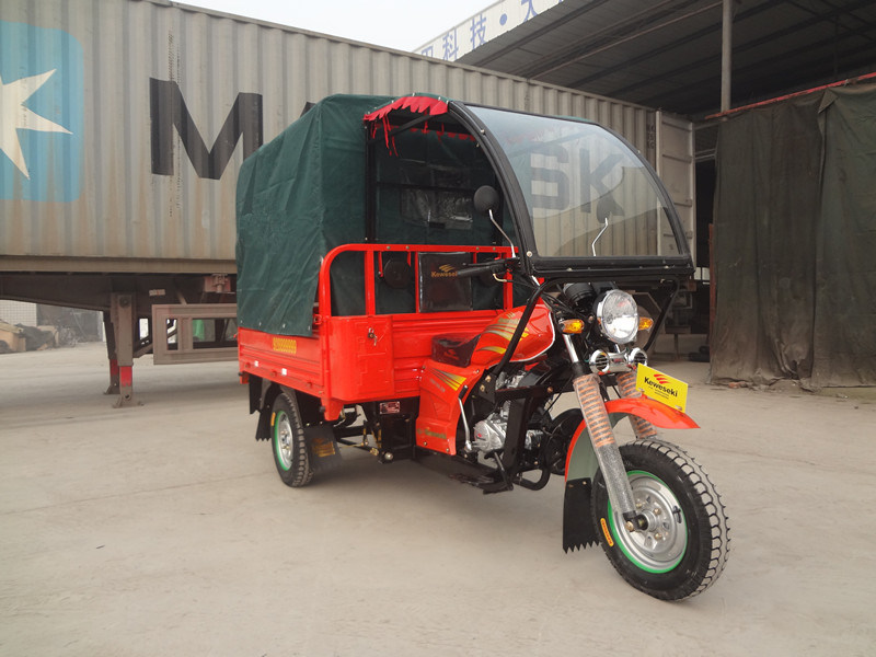 China Three Wheeled Tricycle With Glass Cabin As Window