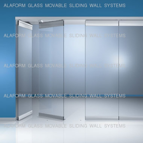 China alaform glass movable partition systems china for Movable glass wall systems