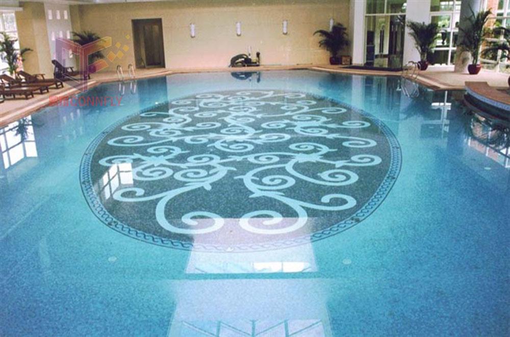 Bathroom Swimming Pool Ceramic Glass Mosaic Tile (CST122)