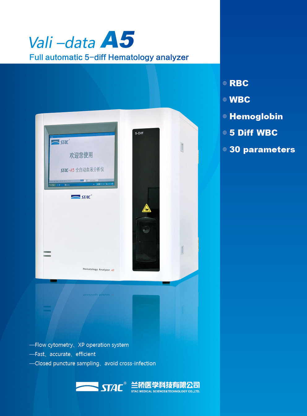 A5 5 Diff 30 Parameters Hematology Analyzer