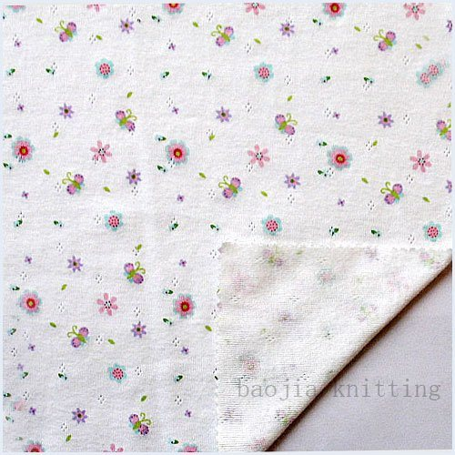 100% Cotton Transfer Rib Fabric (YQLW00016)