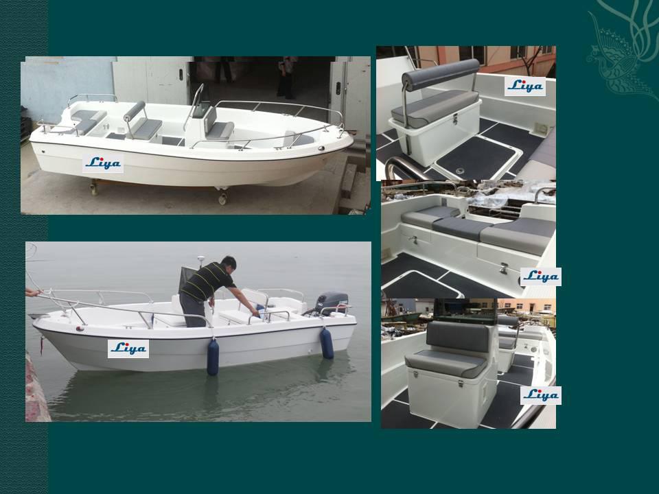 Liya 17 Feet China Fiberglass Fishing Boast Panga Boats