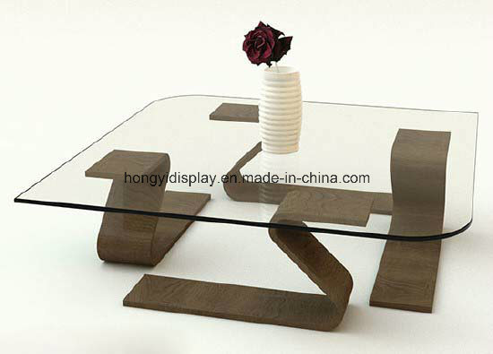 Coffee Table with Wooden Leg, Tea Table