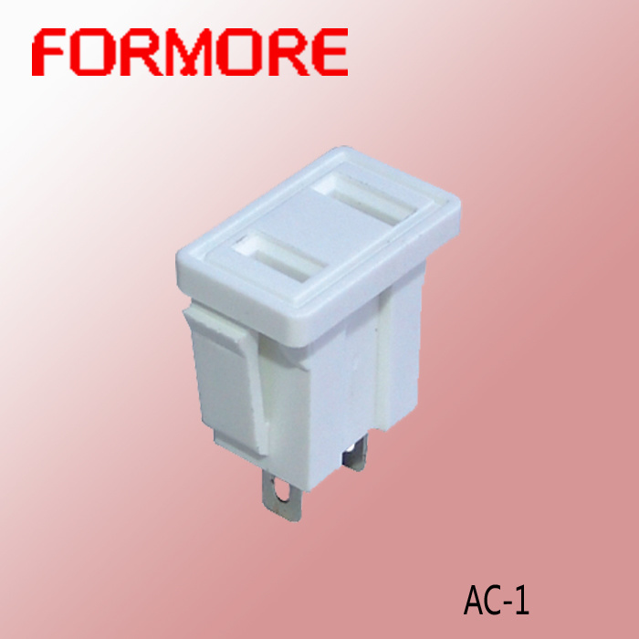 White AC Socket /Power Socket /Connector