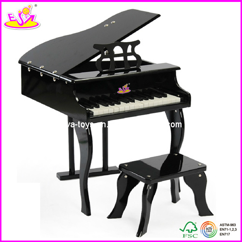 Children Solid Wood Piano with Stool, for Age 3+ (W07C014)
