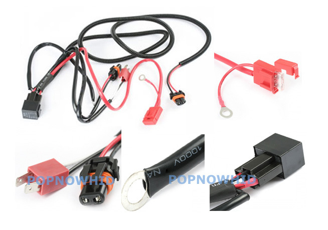 H7 HID Relay Fuse Wire Wiring Harness