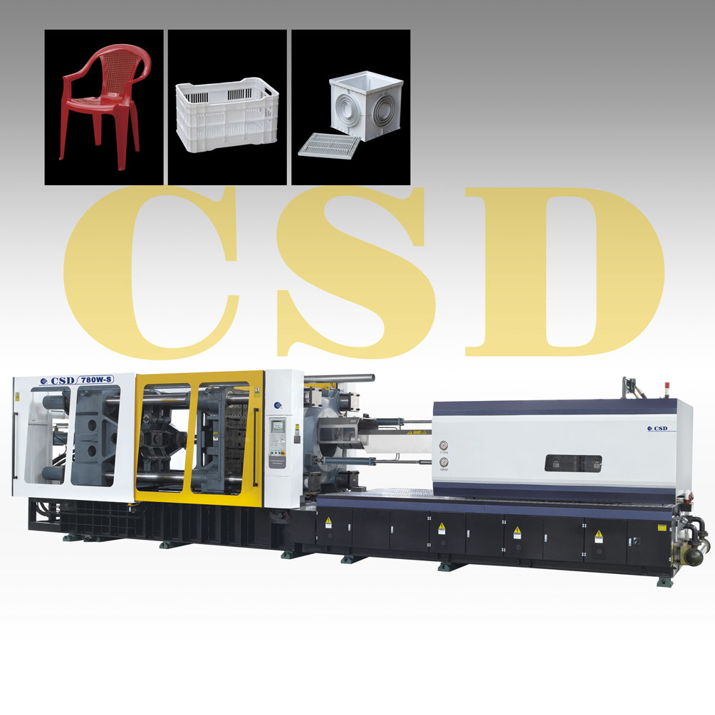 CE Approved Injection Moulding Machine (CSD-780W-S)
