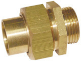 Dzr Brass Straight Unions for Pipes