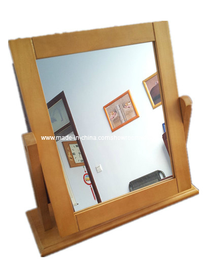 Rotatable Turnable Table Mirror, Dressing Table Mirror, Wood Mirror