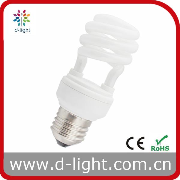 Super Mini Energy Saving Half Spiral Light Bulb