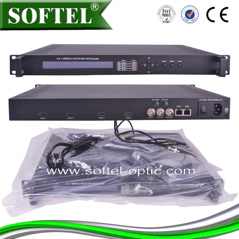 4 in 1 MPEG-4 Avc/H. 264 HDMI Input Digital Encoder