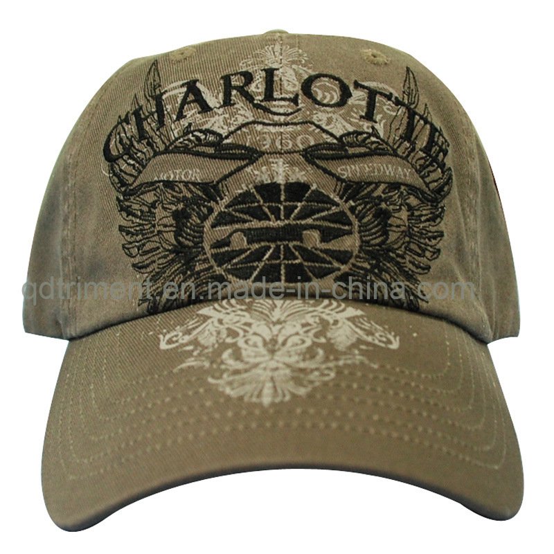 Washed Distressed Printing Embroidery Sport Golf Baseball Cap (TRB069)