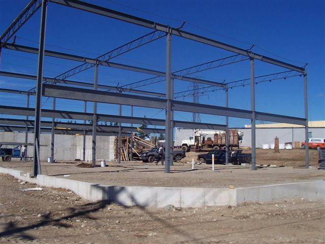structural steel frame construction site stock photo getty images