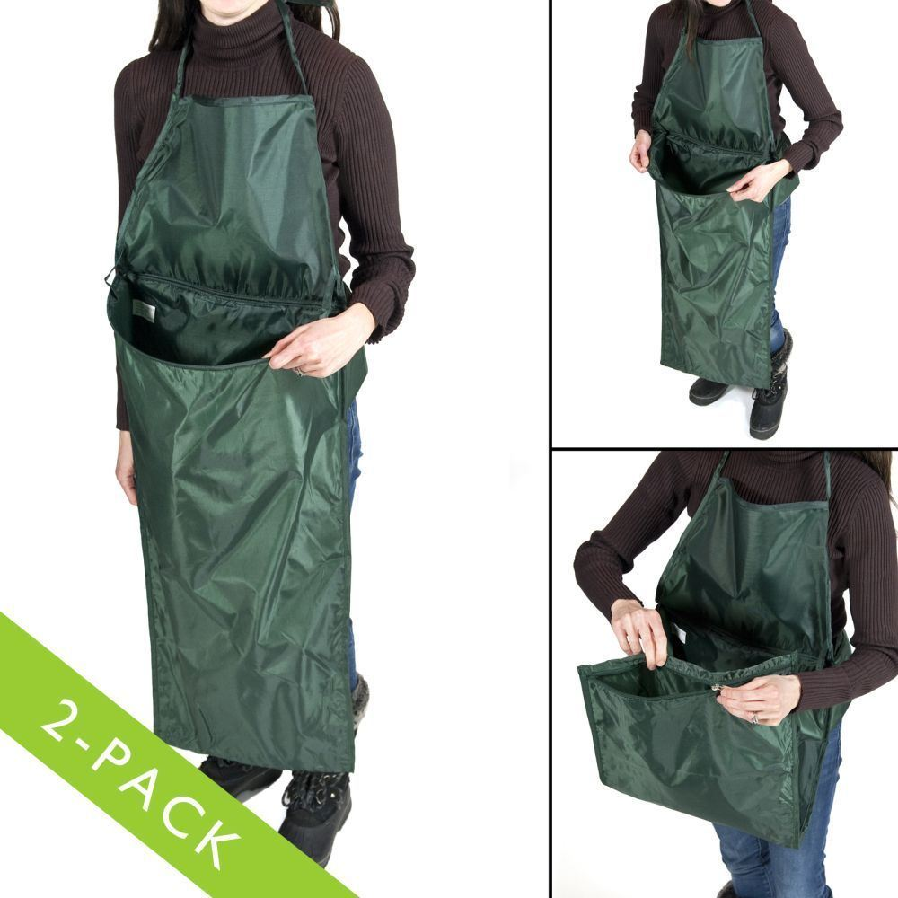 Foldable Front Pocket Picking Fruit Weeding Protect Clothing Garden Apron