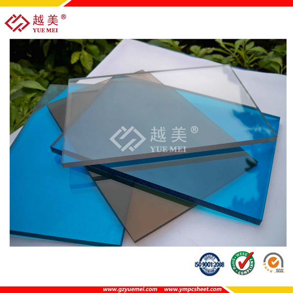 0.8mm 1mm Transparent Polycarbonate Corrugated Panel for Building Roofing