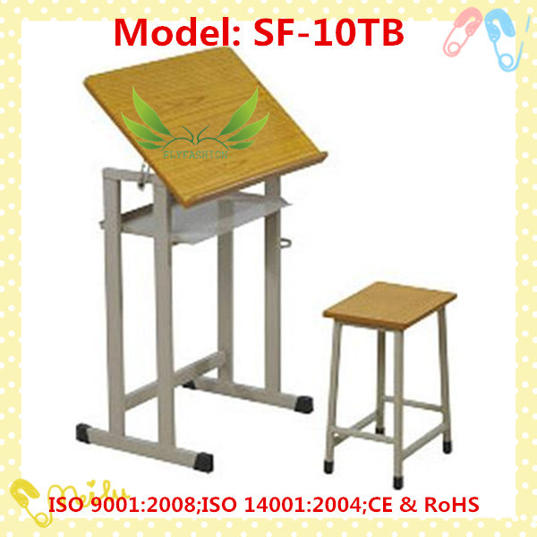Wooden Kids Study Writing Table Children Drawing Table Desk (SF-40T)