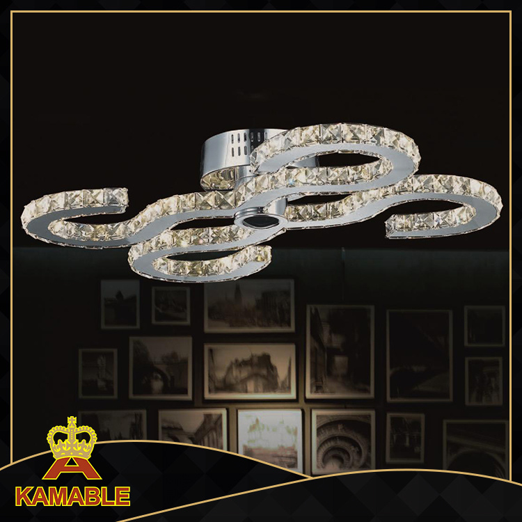 High Quality Home Hotel Project Crystal LED Ceiling Lamp (MX77057-32)
