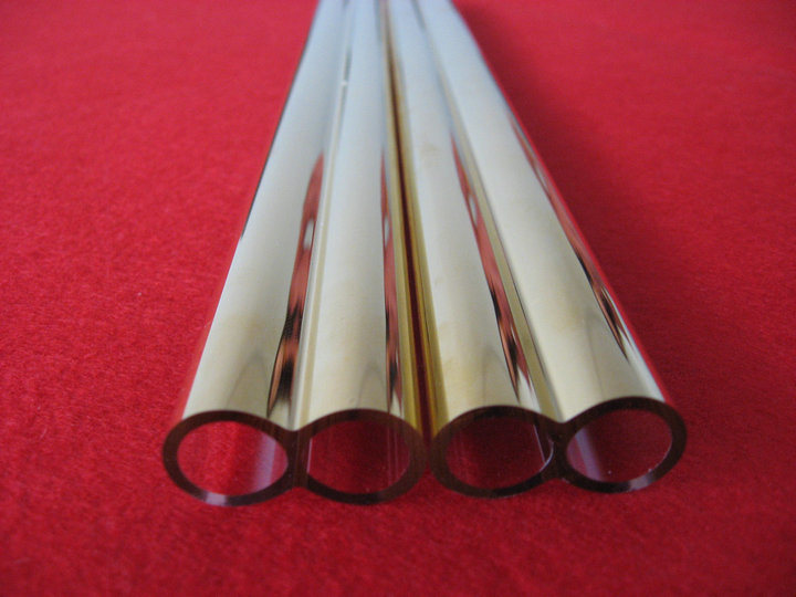 High Purity Gold Plating Quartz Glass Tube