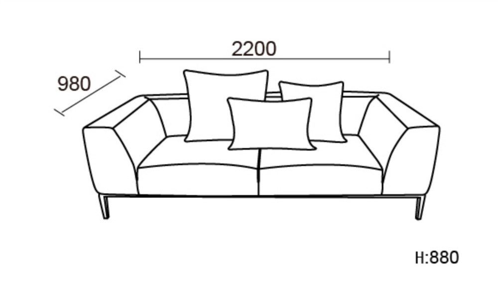 Three Seat Leather Sofa for House Used (SF1070)