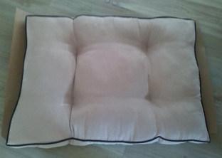 Anti Slip Beige Suede Soft Pet Bed Dog/Cat Bed