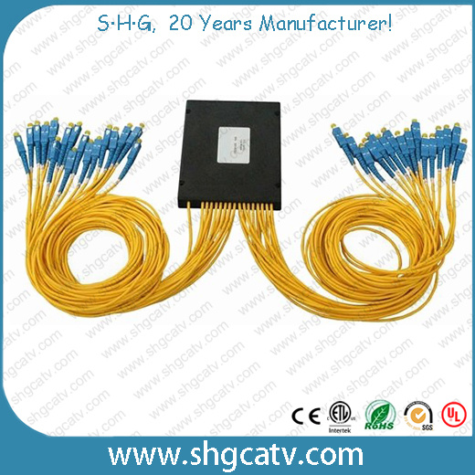 ABS Cassette Box Type 1*32 Fiber Optic PLC Splitter with Sc/Upc Connector