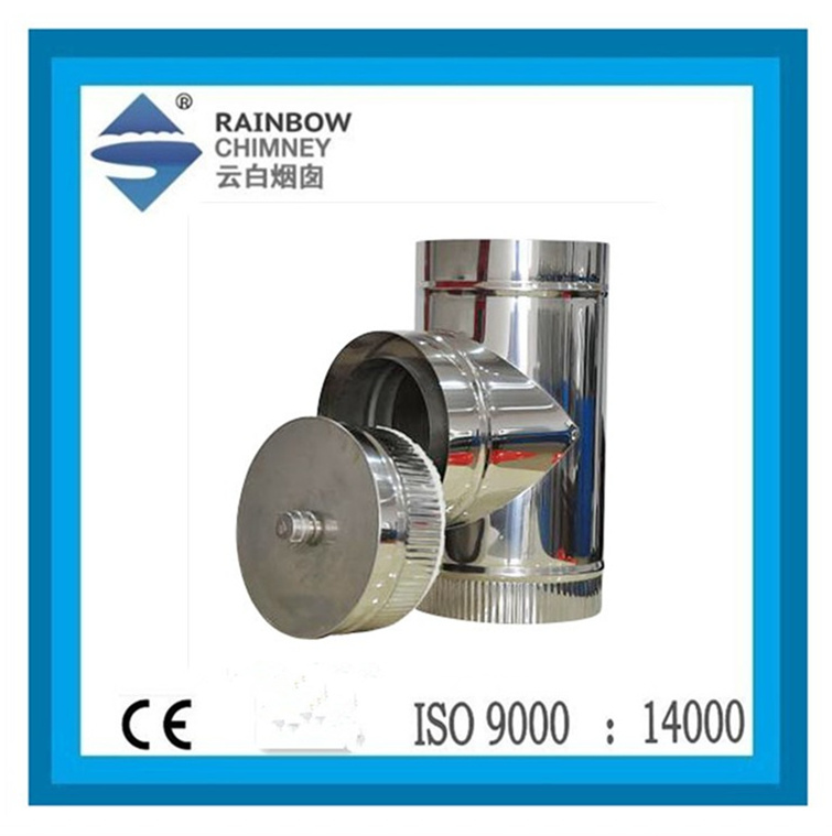stainless steel chimney - 90 degree Tee